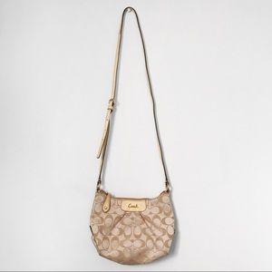 Coach monogrammed crossbody purse/bag